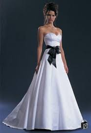 black and white bridal gowns