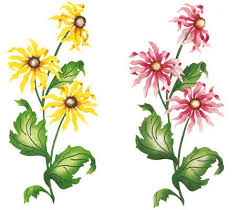 flower stencils for painting