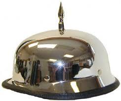 chrome german motorcycle helmet