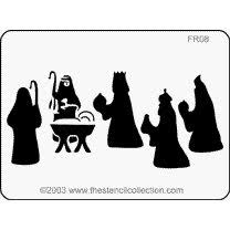 nativity stencil