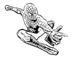 spiderman colouring book