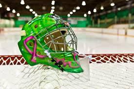 painted goalie mask