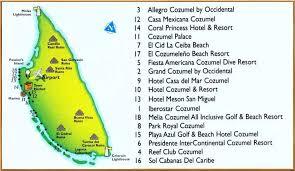 cozumel hotel maps