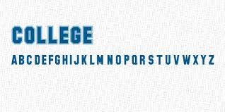 college lettering