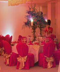 red chair covers
