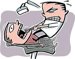 dentist pulling teeth