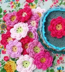 free crocheted flower patterns