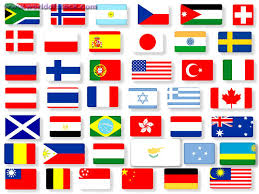 different flags of the world