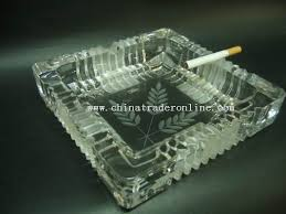 crystal ashtrays