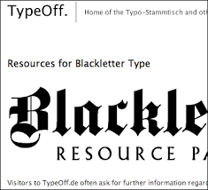 blackletter type