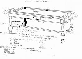 pool tables dimensions