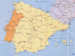 map of portugal and spain
