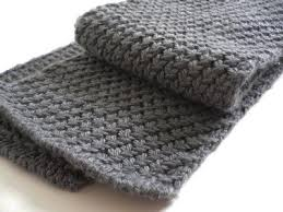 knit mens scarf