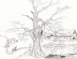 pencil landscape drawings