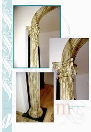 columnas de yeso