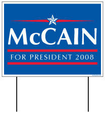 mccain campaign sign