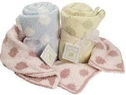 polka dot baby blanket