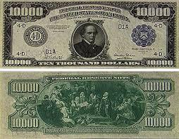 10 000 dollar bill