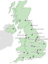 map of english airports