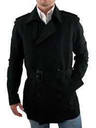 mens black trench coats
