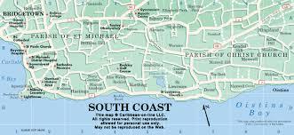 map of the south coast