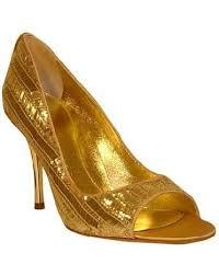 gold peeptoe