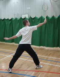 backhand grip badminton