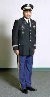 dress blue army uniform