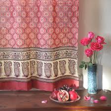 rose print curtains