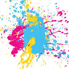 neon paint splatter