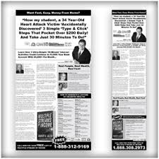 newspaper ad layouts