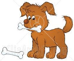 clip art dog bone