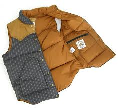 leather down vest
