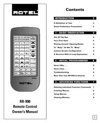 rotel remote