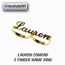 lauren name ring