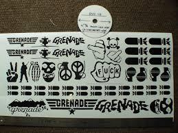 grenade glove stickers