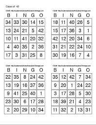 print bingo card