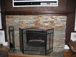 fireplace stone tile