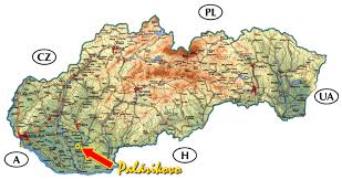 mapa slovenska