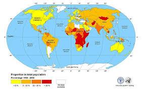 on world map