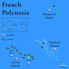 map of tahiti islands