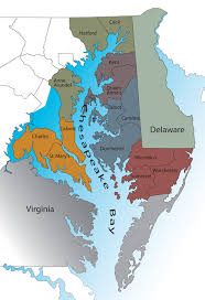 map of the chesapeake bay