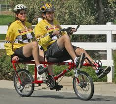 recumbent tandem bicycle