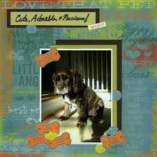 dog scrapbook pages