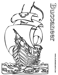 pirate ship colouring