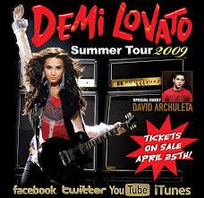 demi lovato world tour 2009