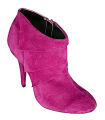 pink suede boot