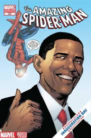 obama and spiderman
