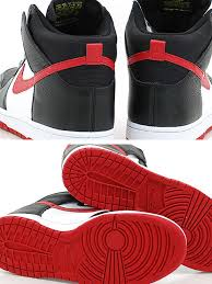 black and red nike dunks