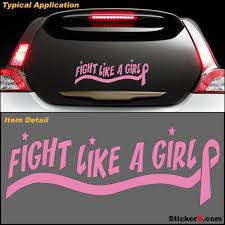 pink ribbon decals